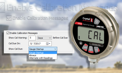 Automatic calibration alert added to digital pressure gauge to help reduce usage after calibration deadlines.