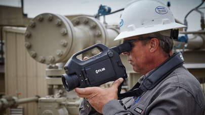 Pipeline inspection using optical gas imaging