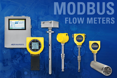 Widest selection of Modbus compatible thermal mass flow meters