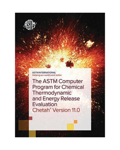Updated ASTM computer program for chemical thermodynamic and energy release evaluation